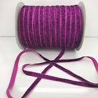 "New 5 yards 3/8""10mm Sparkle Glitter Velvet Ribbon Headband Craft supplies #28"