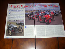 MORGAN THREE WHEEL TRIKE      - ORIGINAL 1997 ARTICLE