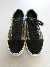 VANS camo and black suede, skateboard shoes , Men's 11