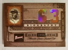 2005 PLAYOFF BIOGRAPHY HANK AARON #63