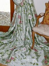 """JANE CHURCHILL CURTAINS Rossanna INTERLINED Cabbage Roses PURE SILK Ea102""""W102""""D"""