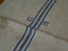 Antique European Feed Sack GRAIN SACK SZM Monogram # 9338