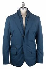 Loro Piana Microfibre & Cashmere Size: M Roadster Pad Windmate Storm System Blue