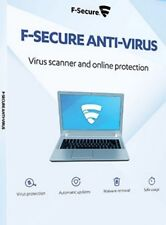 F-Secure Antivirus 2019 2 PC ( User ) 1 Year License Key over Mail ( Download )