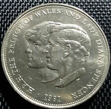 1981 Prince of Wales & Lady Diana Royal Wedding Commemorative Crown Unc #D1195