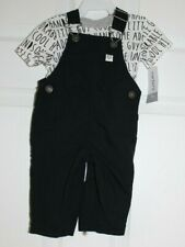 BOY'S SZ 3 MONTH 2PC SET-SS TEE AND COVERALLS BY CARTER'S-NEW WITH TAGS