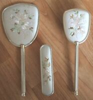 Vintage Vanity Dressing Table 3 Piece Set Mirror, Hair Brush & Clothes Brush