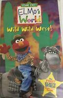 Sesame Street ~ Elmo's World ~ Wild Wild West! (VHS, 2001) Clamshell-TESTED-RARE