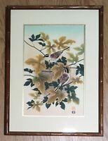 Vintage Framed Collectors Guild  Ukiyo-e Woodblock Print, Uchida Atelier, Japan