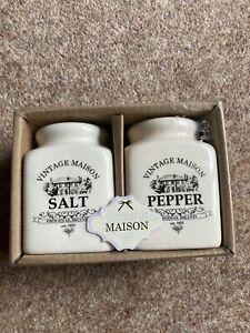 Vintage Maison Salt & Pepper Pots Brand New