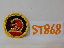 VINTAGE 1970'S EMBROIDERED PATCH GIRL OR BOY SCOUT MERIT BADGE JESTER FUNNY