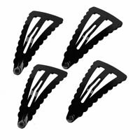 4 Pcs DIY Hairdo Black Metal Triangle Shape Bow Prong Hair Clips for Ladies
