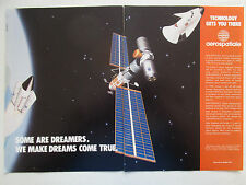 1990-91 PUB AEROSPATIALE ESA CNES SPACE ARIANE 5 VAISSEAU HERMES ORIGINAL AD
