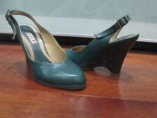 MARNI Leather Wedge Slingbacks Size 6