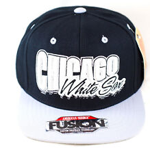 MLB Chicago White Sox Wool Blend Snapback With Oversized Logo by American Needle