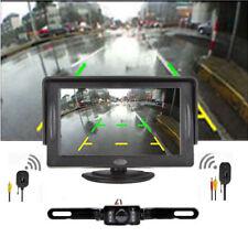 """4.3"""" TFT LCD Monitor Car Rear View System Backup Reverse Camera Kit Night Vision"""