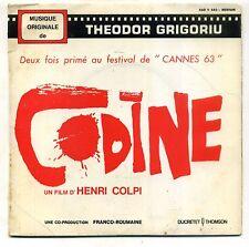 """B.O.F """" CODINE  """" EP DUCRETET 460V582 - THEODOR GRIGORIU"""
