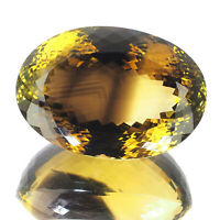 VVS 170 Cts AAA Quality Natural Quartz Yellow Black Bi Color Certified Gemstone