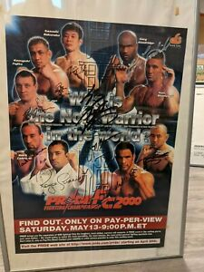 22 Rare MMA posters: PRIDE FC, UFC, Helio Gracie, autographed event poster