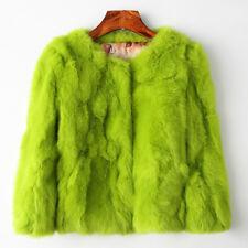 New 100% Real Rabbit Fur Women Coat Jacket Overcoat Garment Short Coat Outwear