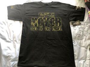 Ranger Up Fight Tshirt Mens Medium Black Boxing MMA UFC Shirt Gym Training Sport