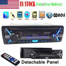 1Din Car Stereo Radio RDS AM FM MP3 Player BT Detachable AUX SD USB 12V