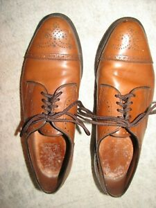 Allen Edmonds Sanford Men Walnut Wingtip Cap Toe Oxfords 9.5 C