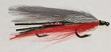 Red Gray Ghost Tandem Streamer Size # 4-6 Hand Tied in Maine
