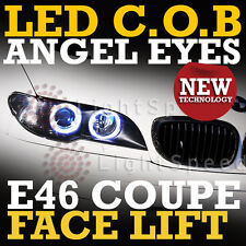 BMW COB LED ANGEL EYES ANGELEYES E46 COUPE FACELIFT 4 RINGS SERIOUSLY BRIGHT NEW