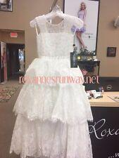 Sherri Hill K51254 Light Ivory Little Girls Pageant Gown Dress sz 8