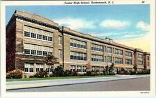 HACKENSACK, New Jersey NJ   JUNIOR HIGH SCHOOL  ca 1940s   Linen Postcard
