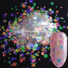 Christmas Nail Art Unicorn Xmas Glitter heart star mix shape uk