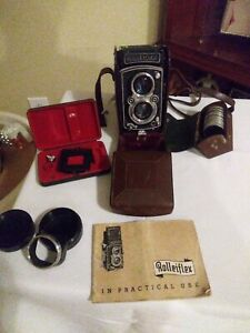 vintage ROLLEIFLEX Camera, Franke & Heidecke - lots of Extras