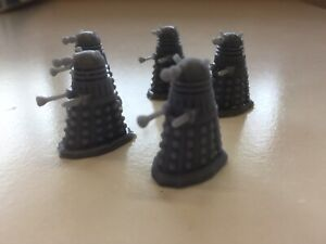 Doctor Who CLASSIC DALEK 28mm Miniature Tabletop Gaming SET OF 5 (Unpainted)