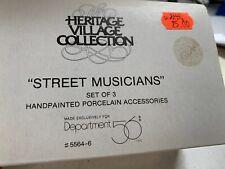 Dept 56 Accessories ~ Heritage -STREET MUSICIANS   - NEW in Box - 58564-6