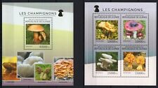 GUINEE 2014 LES CHAMPIGNONS MUSHROOMS NATURE FLORA  STAMPS MNH**