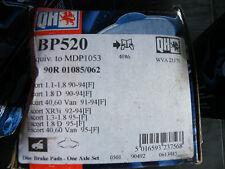 BP520 New QH  Brake Pads Ford Escort 9/90 - 12/94
