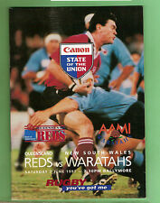 #D110.  RUGBY UNION PROGRAM 1997 - NEW SOUTH WALES WARATAHS V QUEENSLAND  REDS