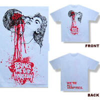 Bring Me The Horizon Vampires Wht Kids T Shirt Youth Child Large New