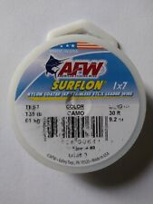 AFW 135lb Surflon Nylon Coated 1x7 SS Leader Wire Camo 30ft