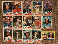 1985 MONTREAL EXPOS Topps Baseball Team Lot 15 Cards RAINES DAWSON REARDON LEA!