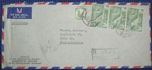 CZECHOSLOVAK LEGATION RANGOON BURMA SIXTH BUDDHIST COUNCIL 1956 R-COVER to ČSR