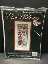 "Vintage Elsa Williams SATURDAY SKATERS Counted Cross Stitch Kit 6"" x 16"" # 02078"