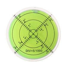 60mm Niveau À Bulles Degrés Grade Surface Circle Disque Circulaire Mesure Ronde