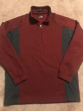 Nike Golf Tour Fit Dry Therma-Fit 1/4 Zip Pullover, Burgundy w/Gray, Mens Lg
