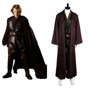 Star Wars Jedi Anakin Skywalker Sith Darth Vader Cosplay Costume Suit Cape