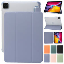 "Case For iPad 10.2"" 8th 7th Pro 11"" 9.7 Mini Air Auto Sleep Silicone Clear Cover"