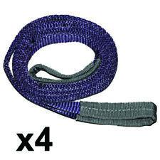 4x 1 Ton * 0.5 Metre Eye to Eye Flat Webbing Sling, 2 Ply, Purple 1 Ton