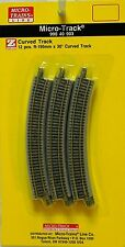 NIB Z MTL #99040903 Micro-Track R-195mm 30 Degree Curve Track 12 Pc