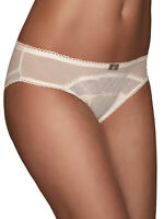 Brand New Size 8,10,12,14 M&S Cream Geo Lace Low Rise Brazilian Knickers (b1)